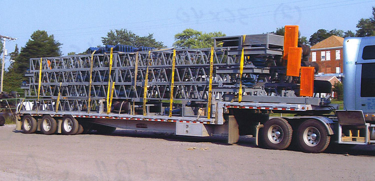 stackers on trailer